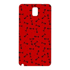 Fish Bones Pattern Samsung Galaxy Note 3 N9005 Hardshell Back Case by ValentinaDesign