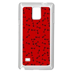 Fish Bones Pattern Samsung Galaxy Note 4 Case (white) by ValentinaDesign