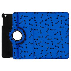 Fish Bones Pattern Apple Ipad Mini Flip 360 Case by ValentinaDesign