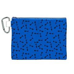 Fish Bones Pattern Canvas Cosmetic Bag (xl) by ValentinaDesign