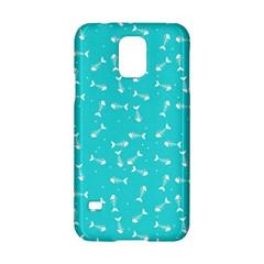 Fish Bones Pattern Samsung Galaxy S5 Hardshell Case  by ValentinaDesign
