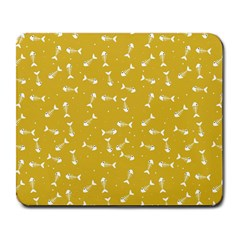 Fish Bones Pattern Large Mousepads by ValentinaDesign