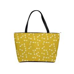 Fish Bones Pattern Shoulder Handbags by ValentinaDesign