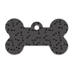 Fish Bones Pattern Dog Tag Bone (one Side) by ValentinaDesign