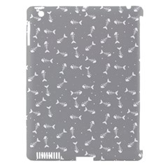 Fish Bones Pattern Apple Ipad 3/4 Hardshell Case (compatible With Smart Cover) by ValentinaDesign