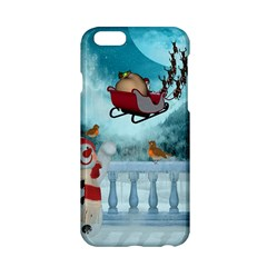 Christmas Design, Santa Claus With Reindeer In The Sky Apple Iphone 6/6s Hardshell Case by FantasyWorld7