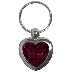 Scales2 Black Marble & Burgundy Marble (r) Key Chains (heart)  by trendistuff
