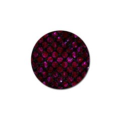 Circles2 Black Marble & Burgundy Marble Golf Ball Marker by trendistuff