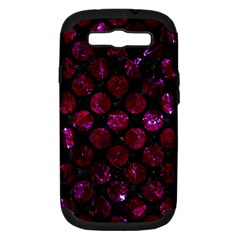 Circles2 Black Marble & Burgundy Marble Samsung Galaxy S Iii Hardshell Case (pc+silicone) by trendistuff