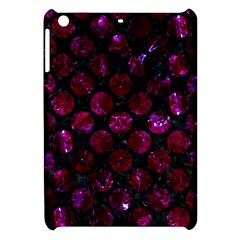 Circles2 Black Marble & Burgundy Marble Apple Ipad Mini Hardshell Case by trendistuff