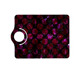 Circles2 Black Marble & Burgundy Marble Kindle Fire Hd (2013) Flip 360 Case by trendistuff