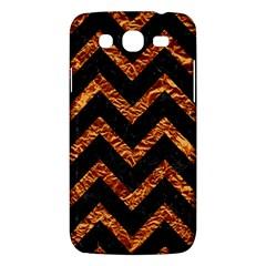 Chevron9 Black Marble & Copper Foil Samsung Galaxy Mega 5 8 I9152 Hardshell Case  by trendistuff