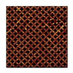 Circle3 Black Marble & Copper Foilper Foil Face Towel by trendistuff