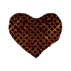Circle3 Black Marble & Copper Foilper Foil Standard 16  Premium Heart Shape Cushions by trendistuff