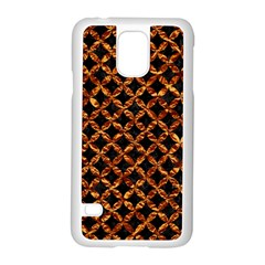 Circle3 Black Marble & Copper Foilper Foil Samsung Galaxy S5 Case (white) by trendistuff