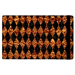 Diamond1 Black Marble & Copper Foilcopper Foil Apple Ipad 2 Flip Case by trendistuff