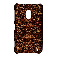 Damask2 Black Marble & Copper Foil Nokia Lumia 620 by trendistuff