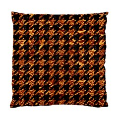 Houndstooth1 Black Marble & Copper Foil Standard Cushion Case (two Sides) by trendistuff
