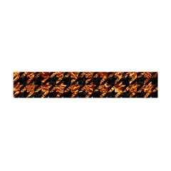 Houndstooth1 Black Marble & Copper Foil Flano Scarf (mini) by trendistuff