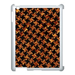 Houndstooth2 Black Marble & Copper Foil Apple Ipad 3/4 Case (white) by trendistuff
