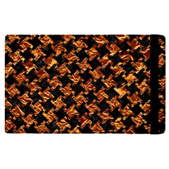 Houndstooth2 Black Marble & Copper Foil Apple Ipad Pro 9 7   Flip Case by trendistuff