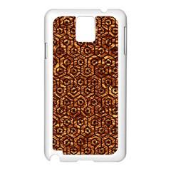 Hexagon1 Black Marble & Copper Foil (r)ble & Copper Foil (r) Samsung Galaxy Note 3 N9005 Case (white) by trendistuff