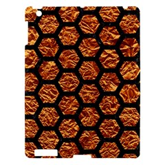 Hexagon2 Black Marble & Copper Foil (r) Apple Ipad 3/4 Hardshell Case by trendistuff
