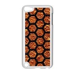 Hexagon2 Black Marble & Copper Foil (r) Apple Ipod Touch 5 Case (white) by trendistuff
