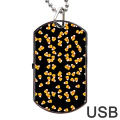 Candy Corn Dog Tag Usb Flash (one Side) by Valentinaart