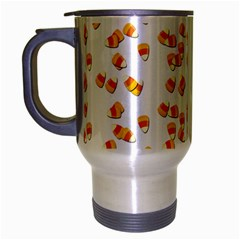 Candy Corn Travel Mug (silver Gray) by Valentinaart