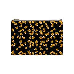 Candy Corn Cosmetic Bag (medium)  by Valentinaart