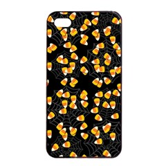 Candy Corn Apple Iphone 4/4s Seamless Case (black) by Valentinaart