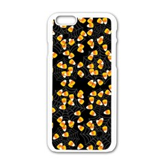 Candy Corn Apple Iphone 6/6s White Enamel Case by Valentinaart