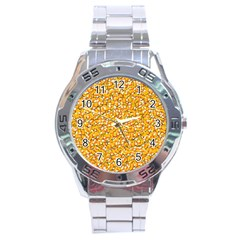 Candy Corn Stainless Steel Analogue Watch by Valentinaart