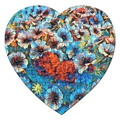 Dreamy Floral 3 Jigsaw Puzzle (heart) by MoreColorsinLife