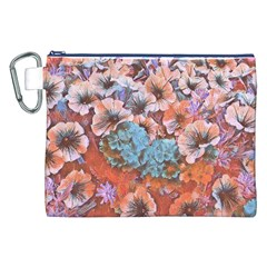 Dreamy Floral 4 Canvas Cosmetic Bag (xxl) by MoreColorsinLife