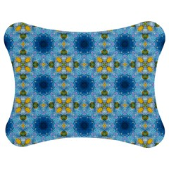 Blue Nice Daisy Flower Ang Yellow Squares Jigsaw Puzzle Photo Stand (bow) by MaryIllustrations