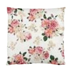 Pink And White Flowers  Standard Cushion Case (two Sides) by MaryIllustrations