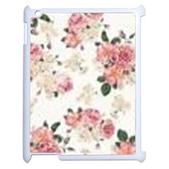 Pink And White Flowers  Apple Ipad 2 Case (white) by MaryIllustrations