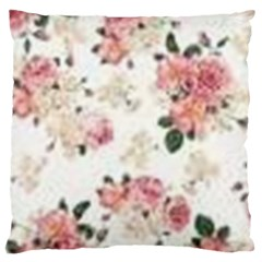 Pink And White Flowers  Large Cushion Case (two Sides) by MaryIllustrations