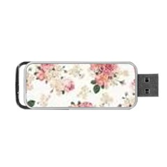 Pink And White Flowers  Portable Usb Flash (one Side) by MaryIllustrations