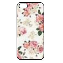 Pink And White Flowers  Apple Iphone 5 Seamless Case (black) by MaryIllustrations