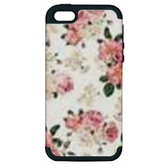 Pink And White Flowers  Apple Iphone 5 Hardshell Case (pc+silicone) by MaryIllustrations