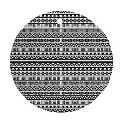 Aztec Influence Pattern Round Ornament (two Sides) by ValentinaDesign