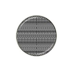 Aztec Influence Pattern Hat Clip Ball Marker by ValentinaDesign