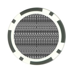 Aztec Influence Pattern Poker Chip Card Guard by ValentinaDesign