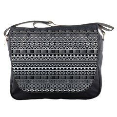 Aztec Influence Pattern Messenger Bags by ValentinaDesign