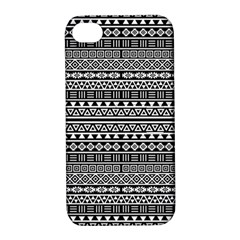 Aztec Influence Pattern Apple Iphone 4/4s Hardshell Case With Stand by ValentinaDesign