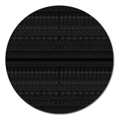 Aztec Influence Pattern Magnet 5  (round) by ValentinaDesign
