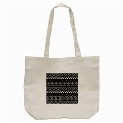 Aztec Influence Pattern Tote Bag (cream) by ValentinaDesign